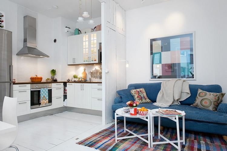 Перепланировка в кухню-гостиную - Дизайн маленькой кухни