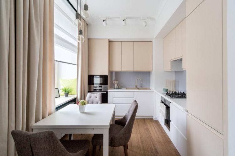 Ставка на минималистичные стили - Дизайн маленькой кухни