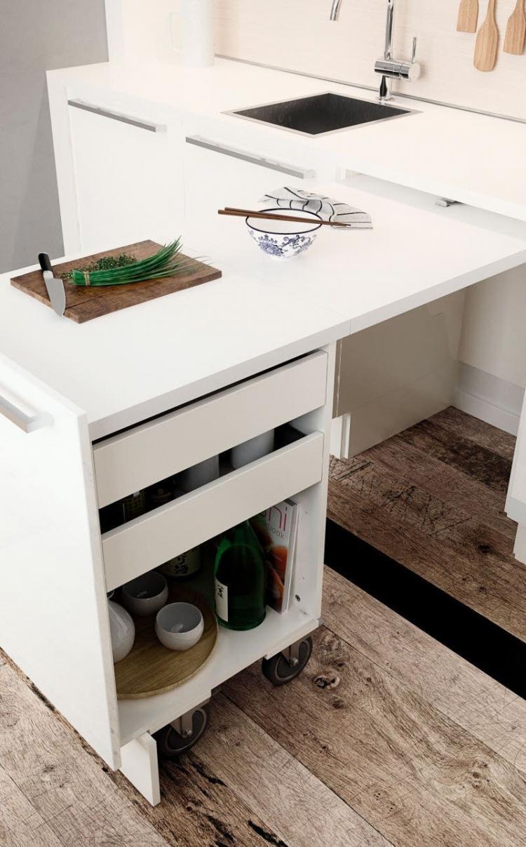 Мебель-трансформер - Дизайн маленькой кухни