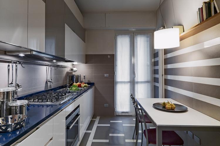 Разноуровневое освещение - Дизайн маленькой кухни