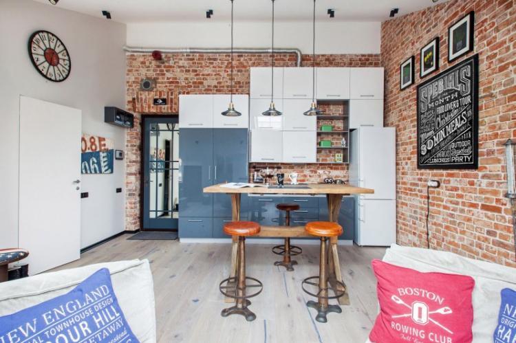 Маленькая квартира в стиле лофт - Дизайн интерьера