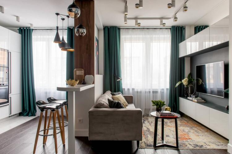 Маленькая квартира в стиле хай-тек - Дизайн интерьера