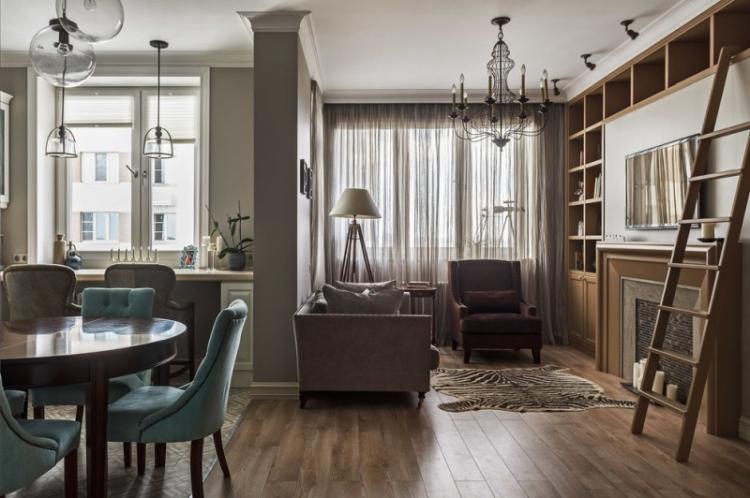 Маленькая квартира в классическом стиле - Дизайн интерьера