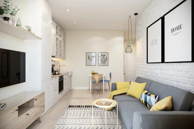 Отделка пола - Дизайн маленькой квартиры