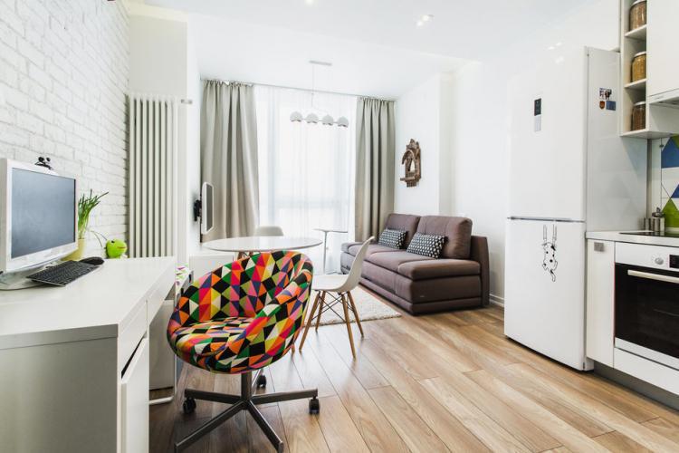 Отделка стен - Дизайн маленькой квартиры