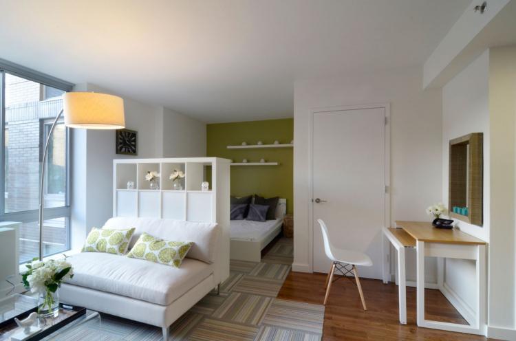 Отделка потолка - Дизайн маленькой квартиры