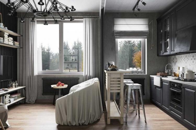 Темные тона - Цветовая палитра для маленькой квартиры