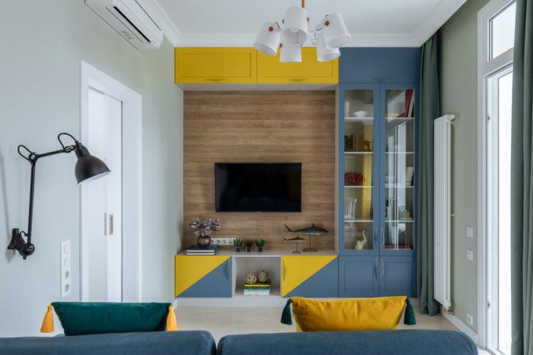 Яркие акценты - Цветовая палитра для маленькой квартиры