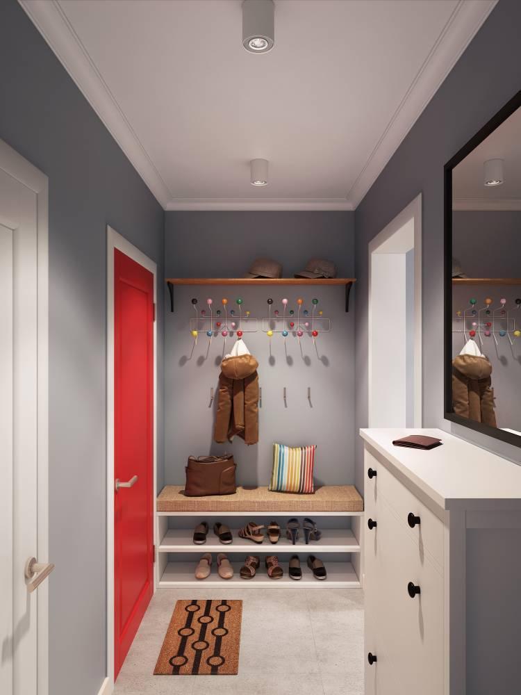 Оформление потолка - Дизайн маленькой прихожей