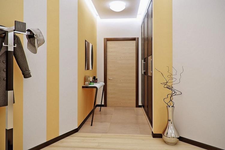 Отделка стен - Дизайн маленькой прихожей