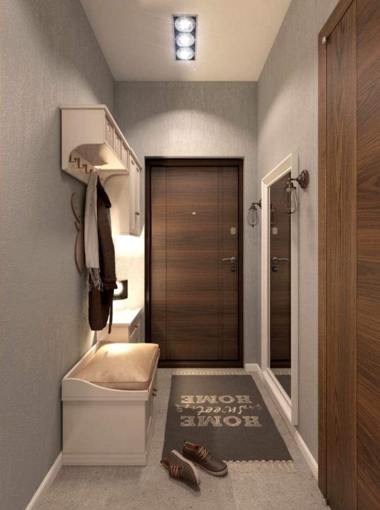 Как спрятать электрощиток - Дизайн маленькой прихожей