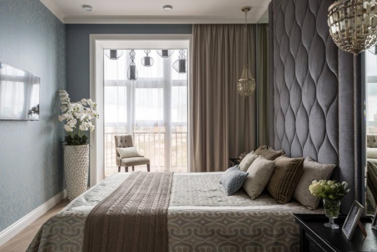 Объединение с балконом или лоджией - Дизайн маленькой спальни