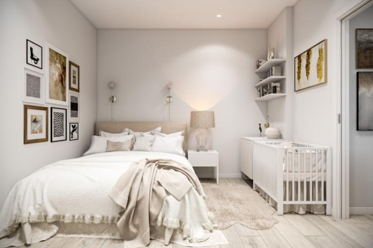 Интересные решения для потолка - Дизайн маленькой спальни