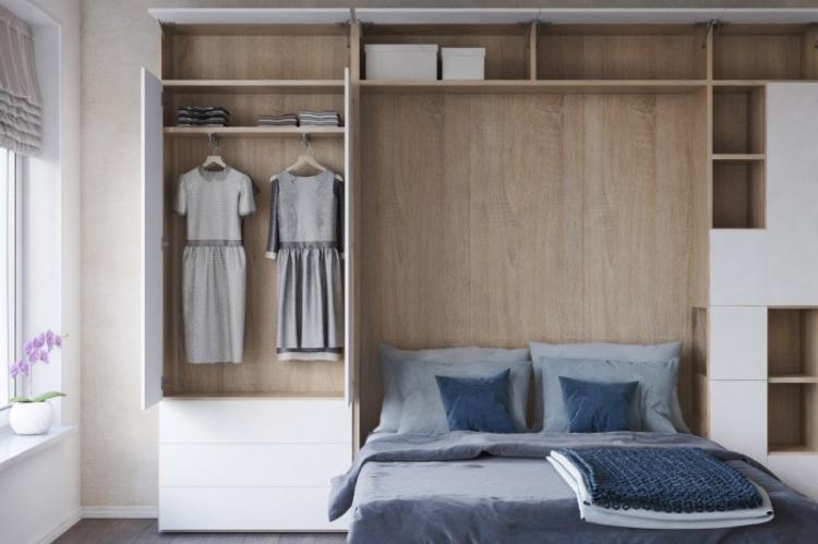 Используй мебель-трансформер - Дизайн маленькой спальни