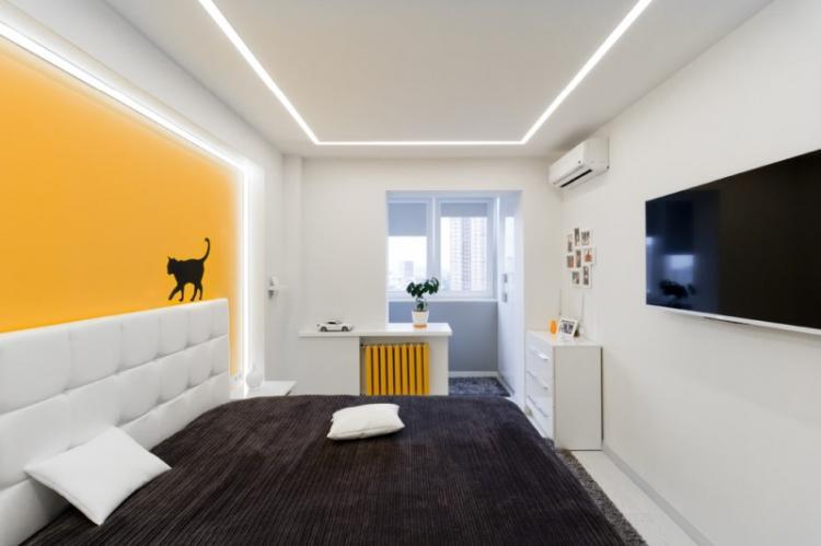 Правильное освещение - Дизайн маленькой спальни