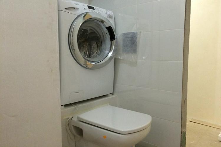 Куда поставить стиральную машину - Дизайн маленькой ванной комнаты