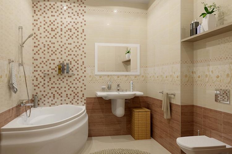 Минимум декора и аксессуаров - Дизайн маленькой ванной комнаты