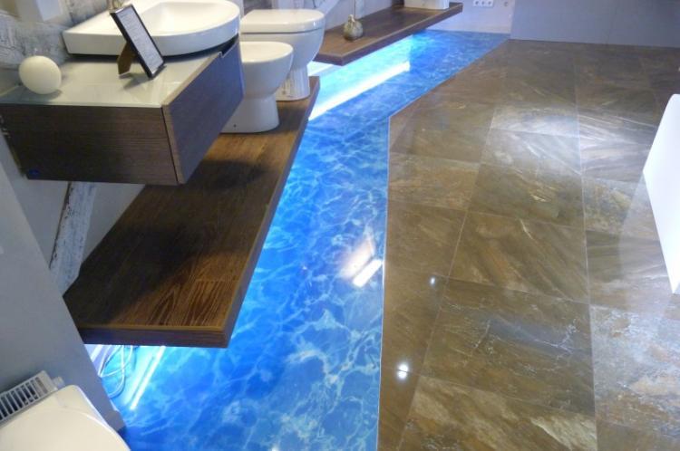 Материалы с 3D-эффектами - Дизайн маленькой ванной комнаты