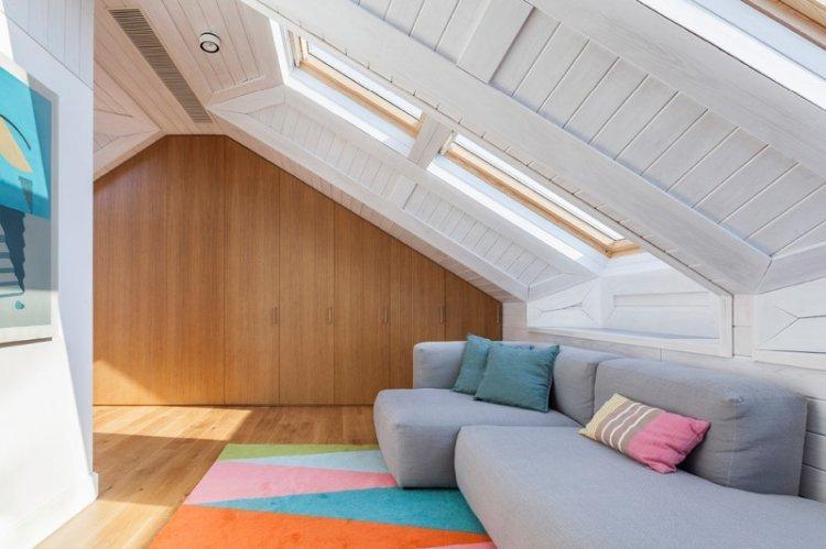 Дизайн потолка - Дизайн мансарды