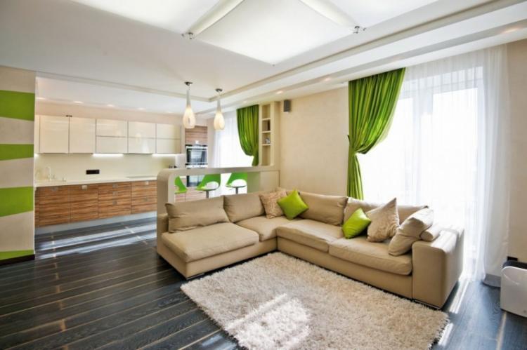 Дизайн однокомнатной квартиры 40 кв.м. (80 фото)