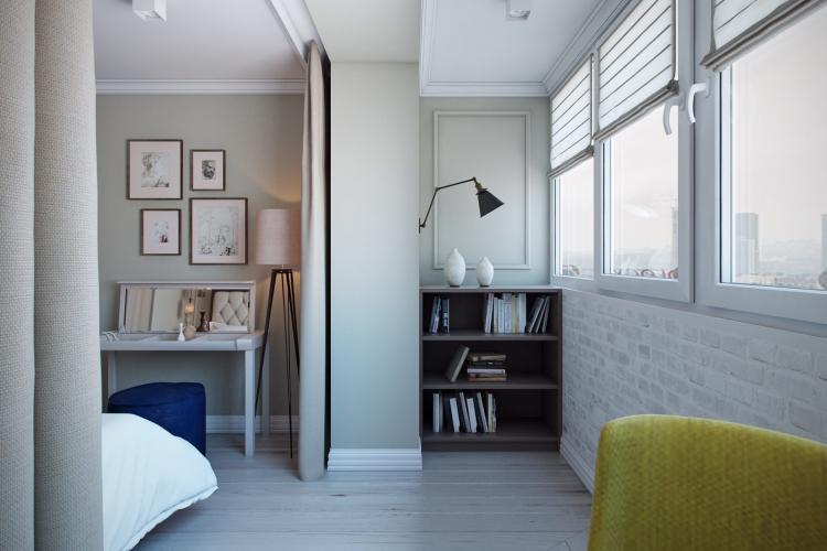 Объединение помещений - Зонирование однокомнатной квартиры 40 кв.м.
