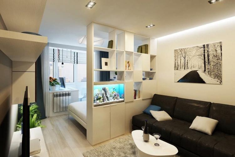 Мебель - Зонирование однокомнатной квартиры 40 кв.м.