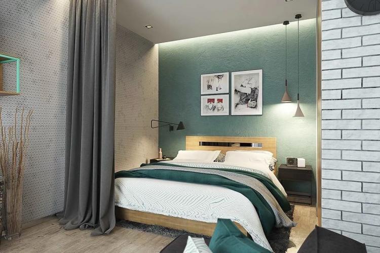 Текстиль и фактуры - Зонирование однокомнатной квартиры 40 кв.м.