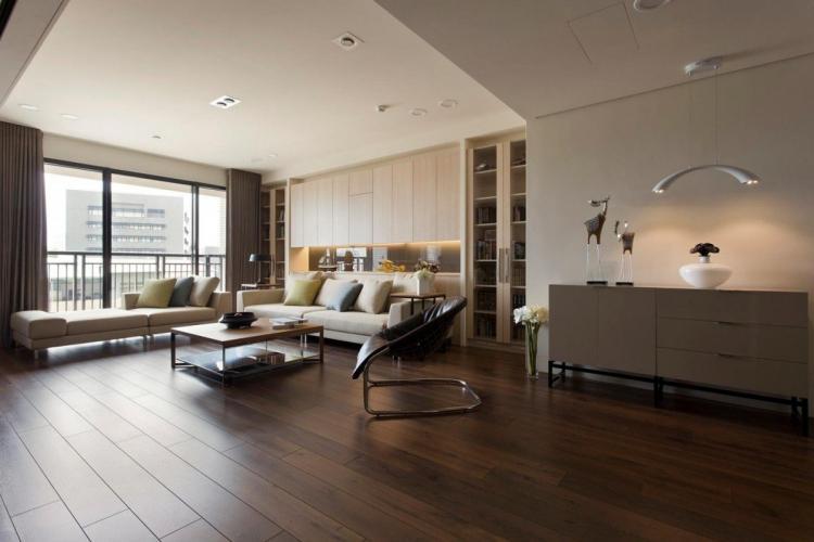 Отделка пола - Дизайн однокомнатной квартиры 40 кв.м.