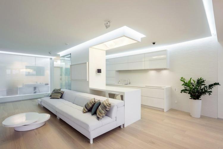 Правильное освещение - Дизайн однокомнатной квартиры 40 кв.м.