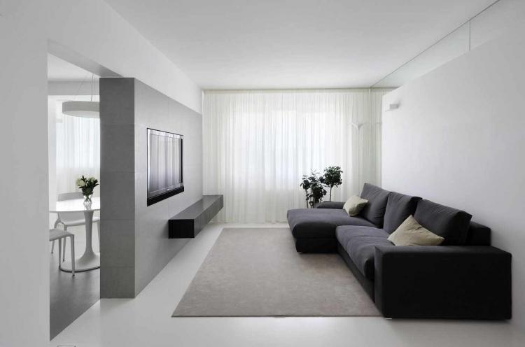 Минималистичный стиль - Дизайн однокомнатной квартиры 40 кв.м.