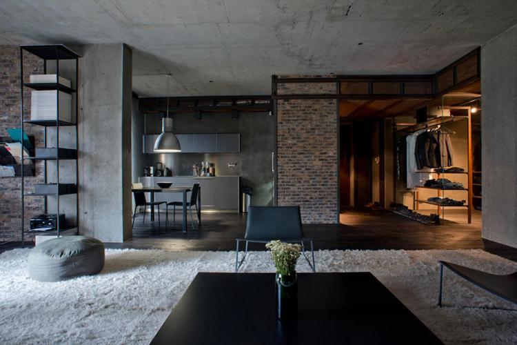 Лофт - Дизайн однокомнатной квартиры 40 кв.м.