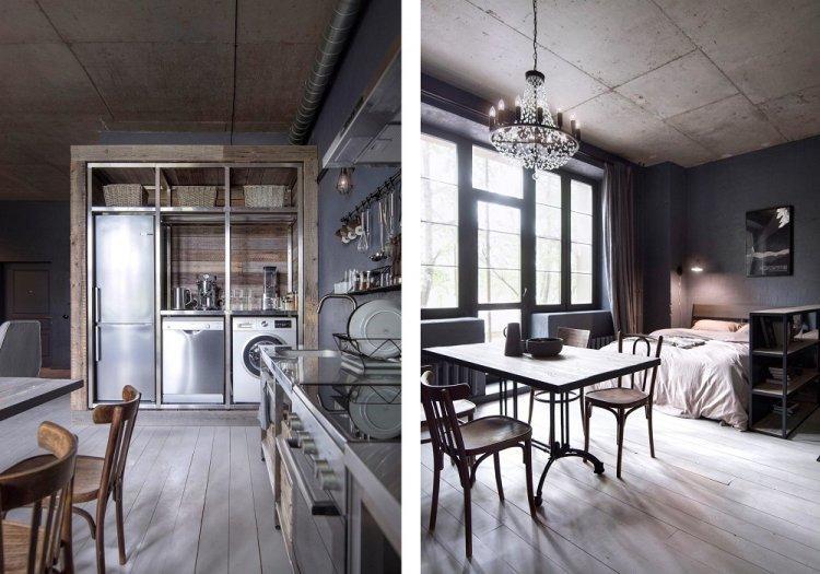 Изысканный московский лофт - Дизайн однокомнатной квартиры