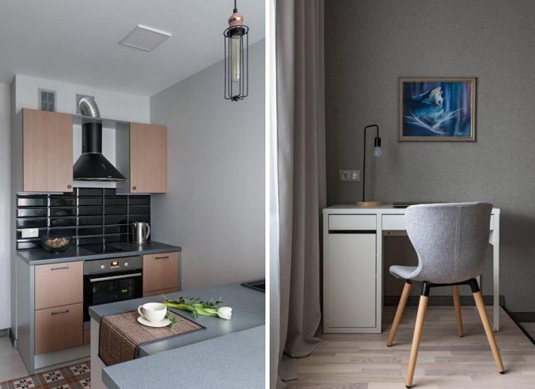 Бюджетный контемпорари в Минске - Дизайн однокомнатной квартиры