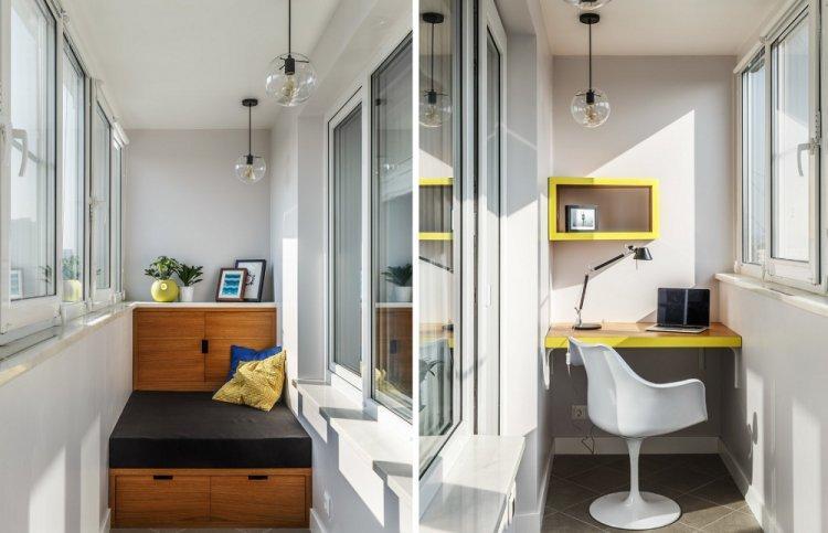 Выдвижная кровать в подиуме - Дизайн однокомнатной квартиры