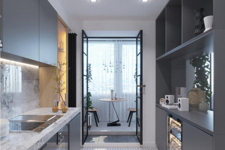 Холодный уют в однокомнатной квартире - Дизайн однокомнатной квартиры