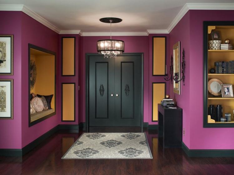Фиолетовая прихожая - Дизайн интерьера 2019