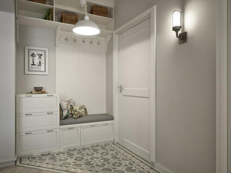 Белая прихожая в хрущевке - Дизайн интерьера