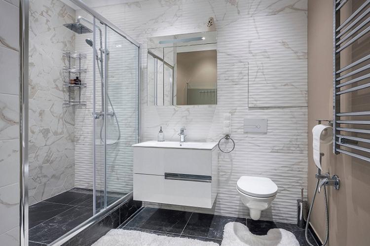 Дизайн ванных комнат совмещенных с туалетом фото решений