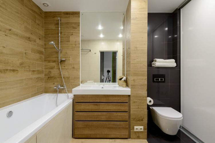 Совмещенный санузел в стиле минимализм - Дизайн интерьера