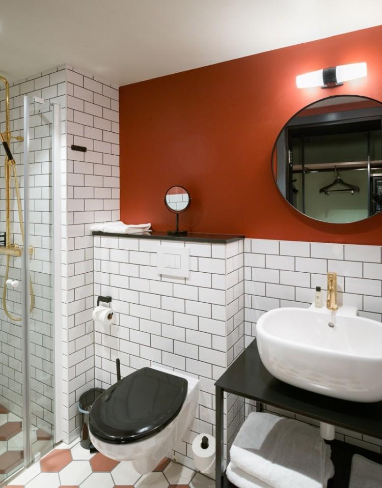 Отделка потолка - Дизайн совмещенного санузла