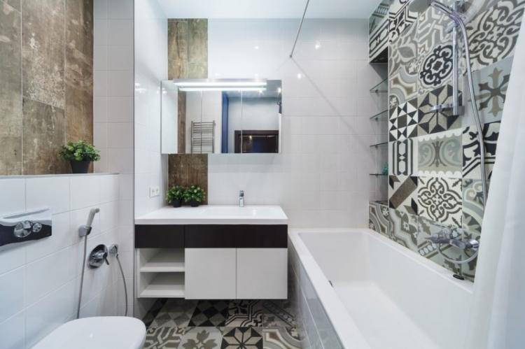 Дизайн совмещенного санузла 5 кв.м. - фото реальных интерьеров
