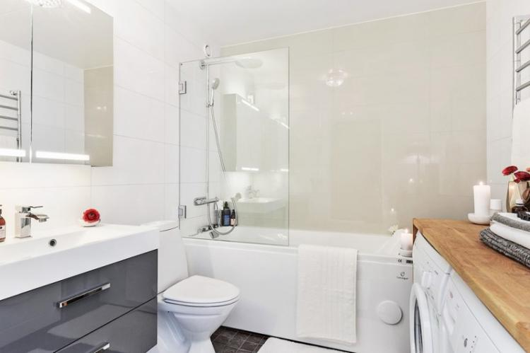 Дизайн совмещенного санузла со стиральной машиной - фото реальных интерьеров