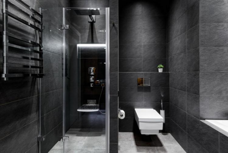 Дизайн совмещенного санузла с душевой кабиной - фото реальных интерьеров