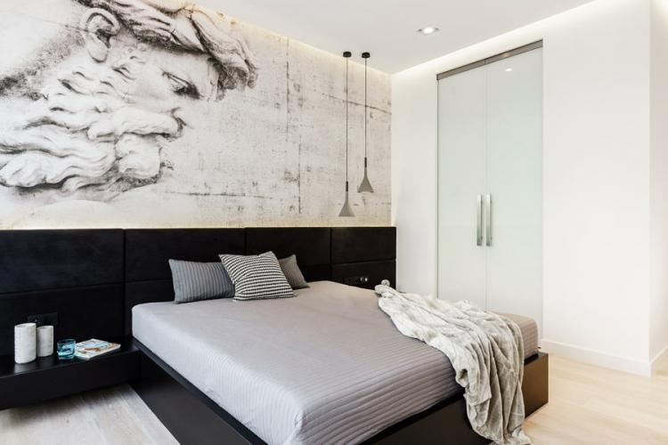Спальня 10 кв.м. в стиле минимализм - Дизайн интерьера