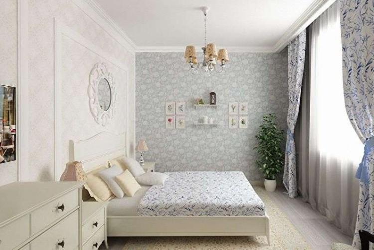 Спальня 10 кв.м. в стиле прованс - Дизайн интерьера