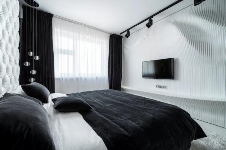 Черная спальня 10 кв.м. - Дизайн интерьера