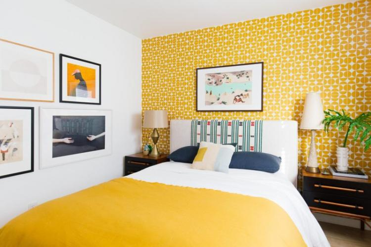 Желтая или оранжевая спальня 10 кв.м. - Дизайн интерьера