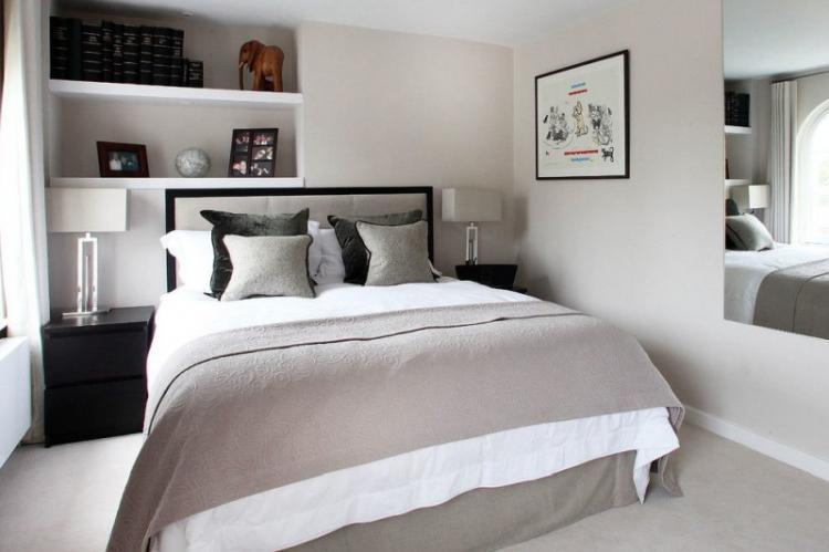 Отделка стен - Дизайн спальни 10 кв.м.