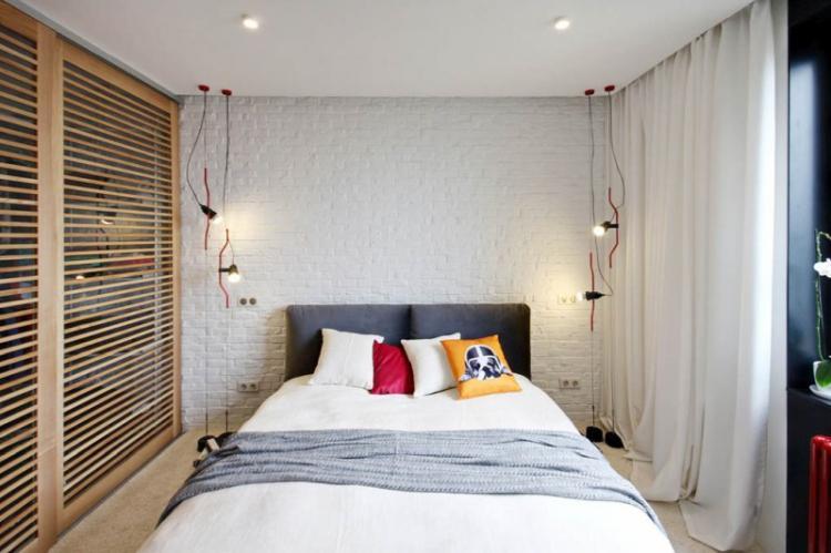 Отделка потолка - Дизайн спальни 10 кв.м.