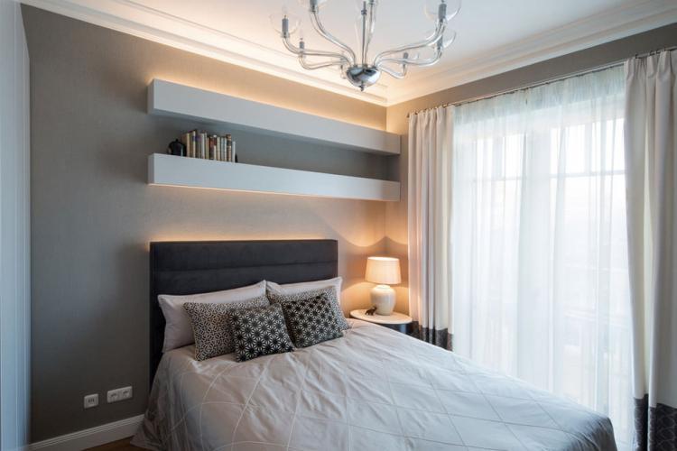 Правильное освещение - Дизайн спальни 10 кв.м.